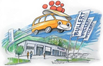 Bullert Automobile - Auto mit Bollenhut
